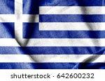 greece cotton flag | Shutterstock . vector #642600232