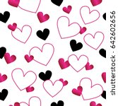 hearts on white background.... | Shutterstock .eps vector #642602656