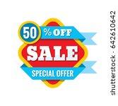 sale 50  off   vector concept... | Shutterstock .eps vector #642610642