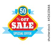 sale 50  off   vector concept... | Shutterstock .eps vector #642610666