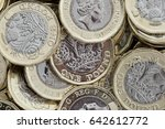 close up of new british pound... | Shutterstock . vector #642612772