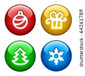 color ring buttons for xmas | Shutterstock .eps vector #64261789