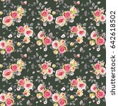 seamless pattern with elegance... | Shutterstock .eps vector #642618502