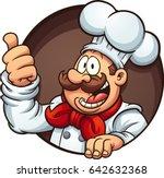 happy cartoon chef. vector clip ... | Shutterstock .eps vector #642632368