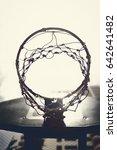 concept of the basketball hoop... | Shutterstock . vector #642641482