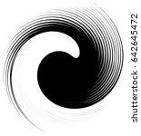 asymmetric  eccentric spiral.... | Shutterstock .eps vector #642645472