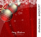 christmas backdrop with balls.... | Shutterstock .eps vector #64265197