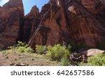 zion national park  utah  ... | Shutterstock . vector #642657586