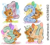 set of numbers being in the... | Shutterstock . vector #642658402