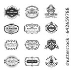 set of illustrations  badges ... | Shutterstock . vector #642659788