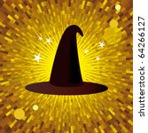 vector magic hat with yellow... | Shutterstock .eps vector #64266127
