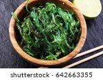 hiyashi wakame chuka or seaweed ...   Shutterstock . vector #642663355