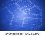 house plan  vector blueprint | Shutterstock .eps vector #64266391