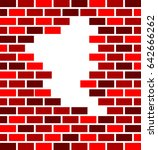 hole in brick wall vector... | Shutterstock .eps vector #642666262