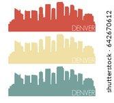 denver skyline silhouette city... | Shutterstock .eps vector #642670612