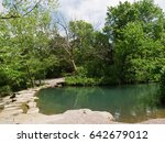 travertine creek chickasaw... | Shutterstock . vector #642679012