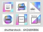 abstract vector layout... | Shutterstock .eps vector #642684886