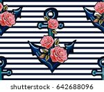 beautiful  embroidery pattern... | Shutterstock .eps vector #642688096