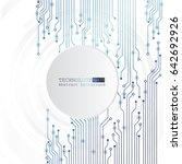 vector circuit board... | Shutterstock .eps vector #642692926