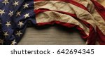 vintage red  white  and blue... | Shutterstock . vector #642694345