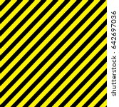 line yellow and black color... | Shutterstock .eps vector #642697036