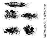 vector set of grunge brush... | Shutterstock .eps vector #642697522