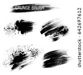 vector set of grunge brush... | Shutterstock .eps vector #642697612