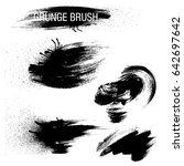 vector set of grunge brush... | Shutterstock .eps vector #642697642
