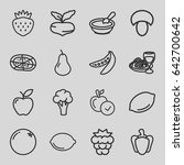 vegetarian icons set. set of 16 ... | Shutterstock .eps vector #642700642