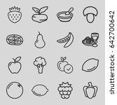 vegetarian icons set. set of 16 ... | Shutterstock .eps vector #642700642