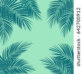 palm leaf vector background... | Shutterstock .eps vector #642700912