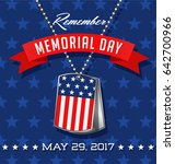 memorial day card or banner... | Shutterstock .eps vector #642700966