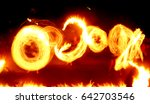 the fire in motion on a long...   Shutterstock . vector #642703546