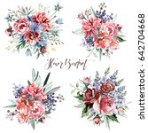 flower bouquets | Shutterstock . vector #642704668