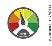 speedometer icon | Shutterstock .eps vector #642707596