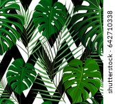 seamless pattern with green... | Shutterstock .eps vector #642710338