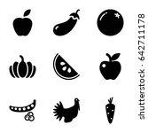 diet icons set. set of 9 diet... | Shutterstock .eps vector #642711178