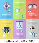 ophthalmologist or oculist... | Shutterstock .eps vector #642711862