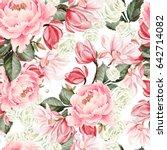 beautiful watercolor pattern... | Shutterstock . vector #642714082