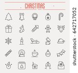 set of new year and christmas... | Shutterstock .eps vector #642717052