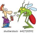 cartoon man spraying a giant... | Shutterstock .eps vector #642720592