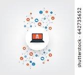 network vulnerability ... | Shutterstock .eps vector #642735652