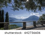 varenna town at the famous... | Shutterstock . vector #642736606