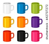 colored mugs templates. set of... | Shutterstock .eps vector #642737272
