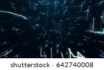 the surface of technology with... | Shutterstock . vector #642740008
