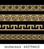 greek ornament. patterns in... | Shutterstock . vector #642754615