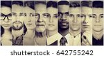 multiethnic group of serious... | Shutterstock . vector #642755242