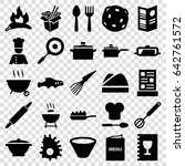 cook icons set. set of 25 cook... | Shutterstock .eps vector #642761572
