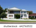 modern australian suburban... | Shutterstock . vector #642763522