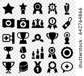first icons set. set of 25... | Shutterstock .eps vector #642764866